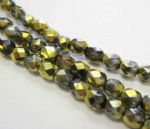 Czech Fire Polished Beads - 4mm - Crystal California Nights (50)
